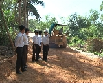 Thôn 2, xã Vinh Hà đã tự nguyện hiến hơn 2.000m2 đất để mở đường