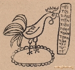 Con gà trống đã ra thủ đô ăn Tết