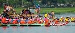 Đua ghe truyền thống trên sông Hương chào Festival Huế 2014