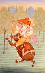 Chú chuột tinh khôn Mushika của thần hạnh phúc và may mắn Ganesa