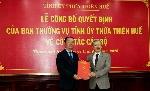 Phó Chủ tịch UBND tỉnh Phan Thiên Định giữ chức vụ Bí thư Thành ủy Huế, nhiệm kỳ 2020 – 2025
