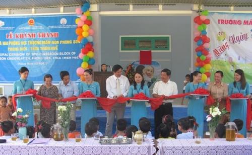 Trường mầm non Phong Sơn khánh thành hai phòng học mới.