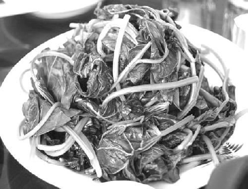 Dĩa rau khoai