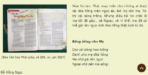 Yếu tố bất ngờ trong bài thơ 'Bông hồng cho mẹ'