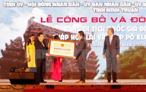 Tháp Chăm Ninh Thuận được công nhận di tích cấp Quốc gia đặc biệt