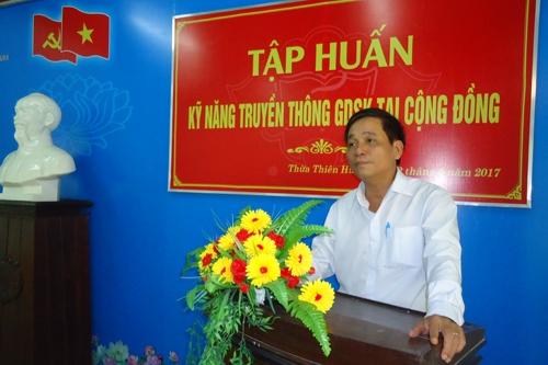 Tập huấn Truyền thông giáo dục sức khỏe tại cộng đồng
