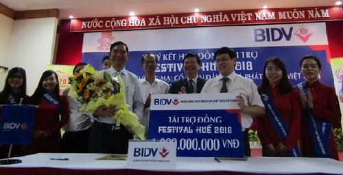 Ngân hàng BIDV tài trợ 1 tỷ đồng cho Festival Huế 2018