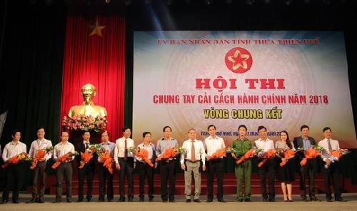 Chung kết cuộc thi Cải cách hành chính nhà nước tỉnh Thừa Thiên Huế năm 2018