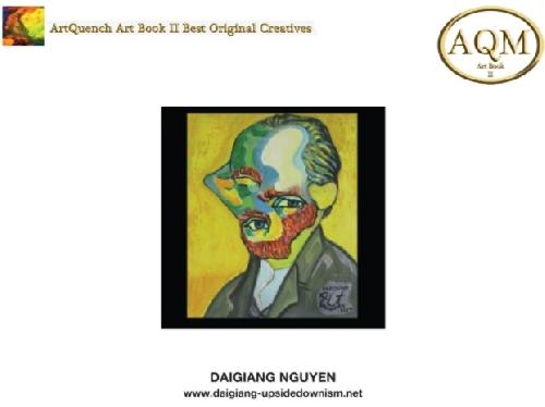 Họa sĩ Nguyễn Đại Giang với bức tranh được chọn vào hợp tuyển các tác phẩm sáng tạo độc đáo nhất của ArtQuench Magazine