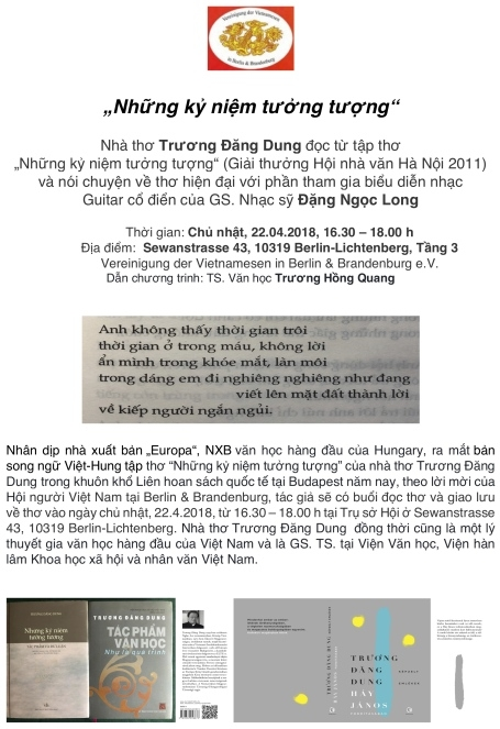 Thơ Trương Đăng Dung trong cảm nhận của tôi