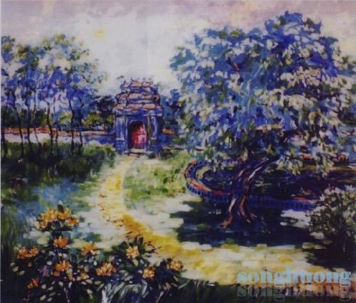 """Hội họa Dương Phước Luyến - Tiếng nói của giấy """"dó"""" và sắc màu"""