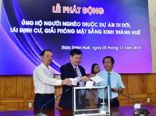 Phát động ủng hộ người nghèo thuộc dự án di dân kinh thành Huế