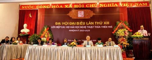 Đại hội đại biểu Liên hiệp các hội Văn học Nghệ thuật Thừa Thiên Huế lần thứ XIII, nhiệm kỳ 2020-2025.