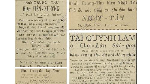 Muôn kiểu quảng cáo bánh Trung thu trên báo xưa
