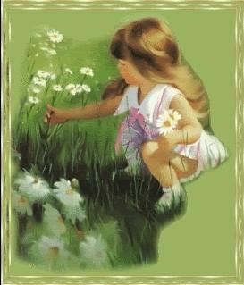 Cô bé và bông hoa
